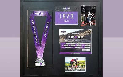 FRAMING PROJECT: Anything is Possible | Triathlon Shadowbox