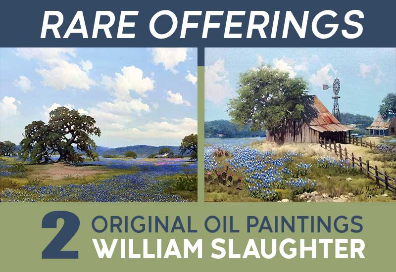 TWO Original Paintings by Prominent Painter William Slaughter Now Available at Dutch Art Gallery in Dallas