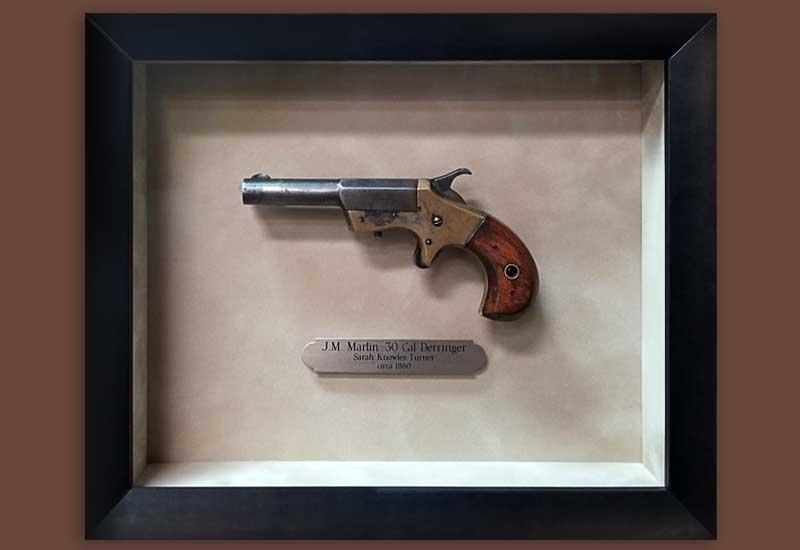FRAMING PROJECT:  J.M. Martin .30 cal Derringer Shadowbox