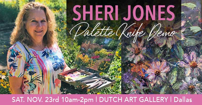 ARTIST DEMONSTRATION | Sheri Jones | Palette Knife Technique