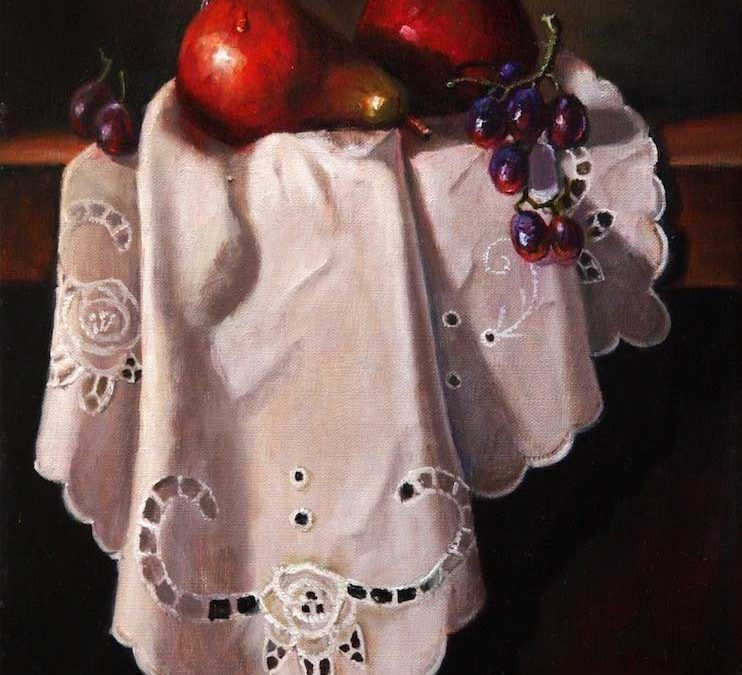 Reds on White by Jean Olliver