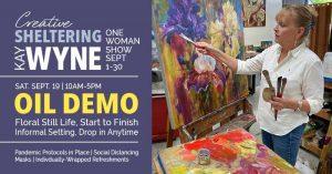 OIL DEMO   Kay Wyne @ Dutch Art Gallery   Dallas   Texas   United States