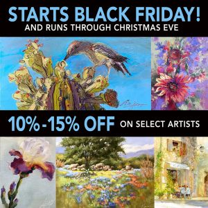 SALE ON SELECT ORIGINAL ART | Black Friday - Christmas Eve @ Dutch Art Gallery | Dallas | Texas | United States