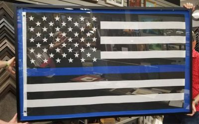 FRAMING PROJECT: Back The Blue Flag